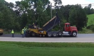 Paving Simcoe County asphalt paving on the road